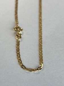 10k ITALY Yellow Gold Gucci Link Ankle Bracelet Chain  Anklet Ladies Women Teen