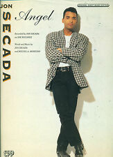 "JON SECADA ""ANGEL"" PIANO/VOCAL/GUITAR SHEET MUSIC 1981 RARE OUT OF PRINT ON SALE"
