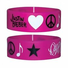 Justin Bieber Bracelets Wristband Pink Official New Justin Bieber JB