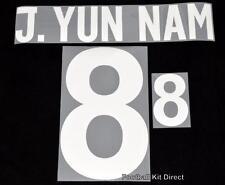 Corea del Norte J. Yun Nam 8 2014 Camiseta de fútbol nombre establecido Home