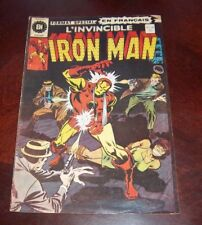 Editions Heritage Invincible Iron Man # 26 1976 French Edition Black White