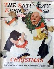 The Saturday Evening Post December 25, 1937 Norman Rockwell Cover FULL MAGAZINE