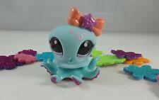 Littlest Pet Shop Blythe Cruise Ship Aqua Blue  Magenta Accented Octopus #2237