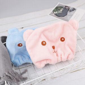 1PC Cute Bear Shower Cap Hair Wrapped Towels Microfiber Bath Hats Dry Hair &N