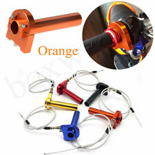 Lightweight &Durable Direct Replacement 22 mm Orange Turn Grip + Throttle Cable