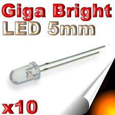 480/10# LED orange 5mm Giga lumineuse 40000mcd 10 pcs