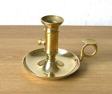 Candle Holder with Handle and Ejector, Italian  Brass