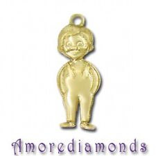 4.2 GRAM 14K YELLOW GOLD LITTLE BOY CHARM PENDANT CHAIN