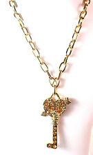 Señoras impresionante Grueso clave Collar Diamante Nuevo único (st63)