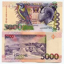 St Thomas and Prince 5000 Dobras 1996 P65b Unc Money X 10 Piece Lot Sao Tome