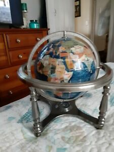 Table Top Globe In Stand With Compass