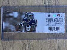 2013 Dallas Cowboys vs Denver Broncos Official NFL Ticket Stub 10/6/2013