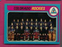 1979-80 TOPPS # 248 ROCKIES  UNMARKED TEAM CHECKLIST NRMT-MT CARD(INV# A5510)
