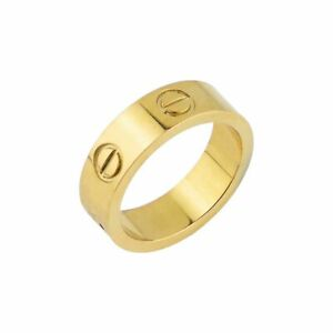 4MM Love Ring Premium Stainless Steel High Quality Love Ring Gold Silver Rose UK