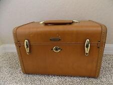 Vintage Brown Samsonite Luggage, Travel Train Cosmetic Case.