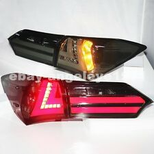 For TOYOTA 2014-2015 Year Corolla Altis LED Strip Tail Lights Smoke Black Color
