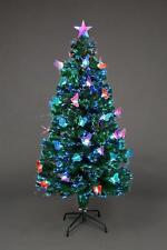 Pre Lit Christmas Tree Fiber Optic Xmas Home Decor LED Lights Butterfly 5ft 150C