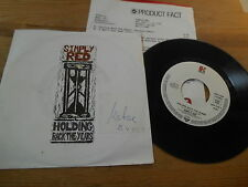 """7"""" POP SIMPLY RED-Holding Back The Years/I wont FE (2) canzone Elektra presskit"""