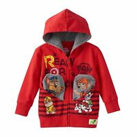 Red Paw Patrol Chase & Zuma Pocket Frenz Zip-Up Hoodie Toddler Boy 2T 3T NEW $38
