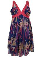 LIPSY LONDON Dress Bandeau Neckline Pink Blue Size 8 New With Tag