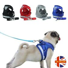 More details for no-pull reflective dog harness leash pet cat mesh vest leads small medium puppy