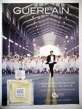 PUBLICITE-ADVERTISING :  GUERLAIN L'Homme Idéal Cologne  2015 Parfum,Mariage