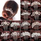 WOW Crystal Rhinestone Flower Wedding Bridal Hair Comb Hairpin Clip Jewelry