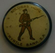 Australia Wwi Army Soldiers Home, Color Pin Back, Button Badge, Clear