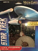 Star Trek Silver edition USS Enterprise NCC-1701 Steel Model Kit.