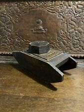 More details for ww1 tank money box - mark v tank - wooden folk art box - possible tank fund