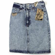 NEW Jordache Acid Wash Jean Skirt 12 with Tags Attached Denim Vintage 80's USA