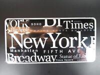 New York Sights Plate Metall Schild Metal 30 cm USA,Broadway,Empire,Chrysler .