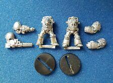Warhammer40k Rogue Trader Spacemarine Terminators x2 metal oop flamer/autocannon
