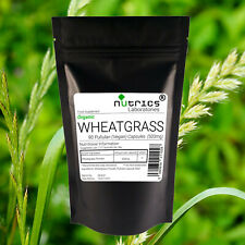 Nutrics® 100% Pure ORGANIC WHEATGRASS 500mg x 90 Vegan Capsules