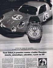 PUBLICITE ADVERTISING 114 1971 TISSOT Sidéral montre
