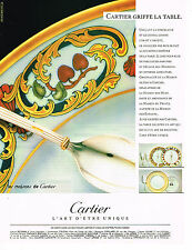 PUBLICITE ADVERTISING 094  1989  CARTIER griffe de la table 1