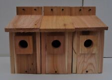 """3 bluebird houses  HOLE SIZE 1 1/2""""   handmade .cedar"""