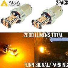 AllaLighting 14-LED 1157 Turn Signal Light Bulb|Parking|Side Marker|Blink Yellow