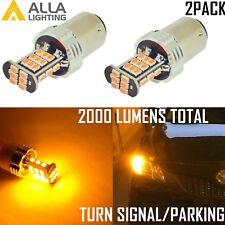 AllaLighting 14-LED 1157 Turn Signal Light Bulb|Parking|Side Marker|Blink Yellow