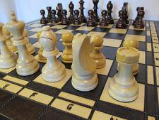 Schach, Schachspiel + Dame + Backgammon aus Holz 52 x 52 cm