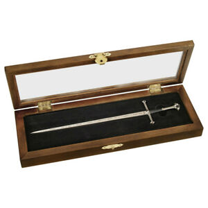 OFFICIAL LORD OF THE RINGS ARAGON ANDURIL SWORD LETTER OPENER IN DISPLAY CASE