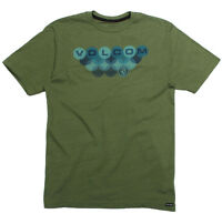 VOLCOM Mens S/S Graphic Surf Skate Street Tee Shirt Green NWT/NEW S M L