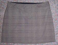 EXPRESS Brown Tan Plaid Short Above the Knee Mini Skirt Size 0 No Slits NWOT