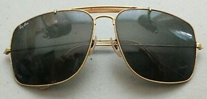 VINTAGE BAUSCH & LOMB RAY BAN CARAVAN AVIATOR SUNGLASSES AS IS FOR RESTORATION