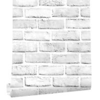 6m 3D White Brick Peel and Stick Wallpaper Self Adhesive Wall Stickers Kitchen