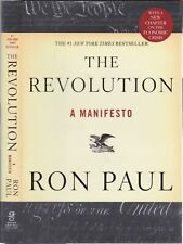 SIGNED Ron Paul The Revolution Manifesto Libertarian Tea Party Movement Father