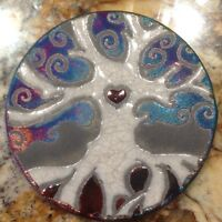 Tree of Life Coaster Raku Pottery, handmade, handsigned - NEW