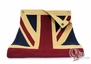 Vintage Union Jack Flag   Double Sided   20 x 44 Inch   Stitched
