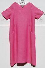 Eskandar PINK Light Weight Linen Scoop Pocket A-line Dress  (0) $890