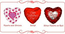 Valentines Day Love Party Gift Supplies 45cm Printed Heart Foil Balloon